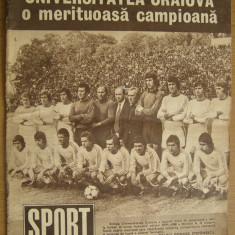 Revista SPORT nr. 5/1980 Universitatea Craiova
