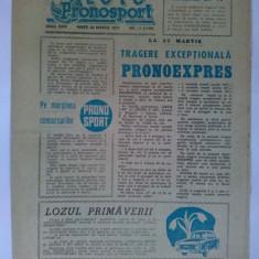 Program Loto Pronosport - 22 martie 1977 Nr. 11