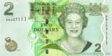 FIJI █ bancnota █ 2 Dollars █ 2011 █ P-109b █ UNC █ necirculata