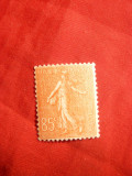 Timbru 85 C rosu Semanatoarea , liniata ,1924 Franta
