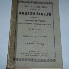 Carte rugaciuni Sagrado Corazon de Jesus (Barcelona anii '30)