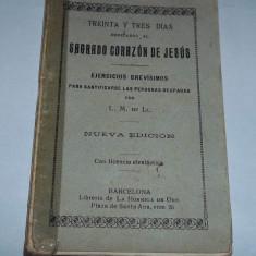 Carte rugaciuni Sagrado Corazon de Jesus (Barcelona anii '30) - Carte de rugaciuni
