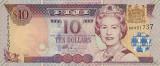 FIJI █ bancnota █ 10 Dollars █ 2002 █ P-106a █ UNC █ necirculata