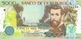 COLUMBIA █ bancnota █ 5000 Pesos █ 2004 █  P-452e █ UNC █ necirculata