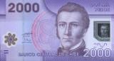 CHILE █ bancnota █ 2000 Pesos █ 2009 █ P-162a █ POLYMER █ UNC █ necirculata