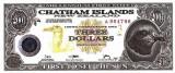 INSULELE CHATHAM █ bancnota █ 3 Dollars █ 2001 █ POLYMER / TYVEK UNC necirculata