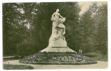 870 - Rm. VALCEA, Statue Barbu Stirbei, Park Zavoi - old  postcard - used - 1921, Circulata, Printata