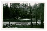621 - PITESTI, park Trivale - old postcard, real PHOTO, CENSOR - used - 1943