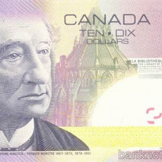 CANADA █ bancnota █ 10 Dollars █ 2005 / 2007 █ P-102Ac █ UNC █ necirculata - bancnota america