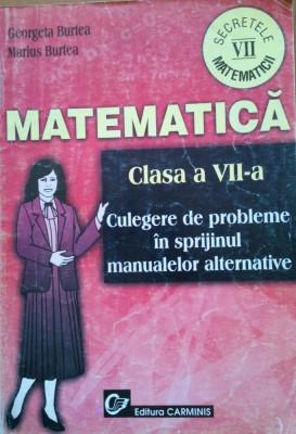 MATEMATICA CLS VII Culegere probleme in sprijinul manualelor alternative -Burtea foto