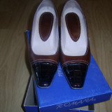 Pantofi piele - Pantof dama, Culoare: Maro, Marime: 38, Maro