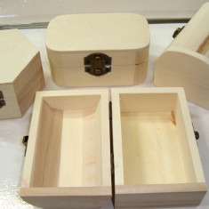 Cufere din lemn natur, accesoriu hand made, 6 bc/set, model la alegere