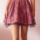 Rochie de seara roz-visiniu