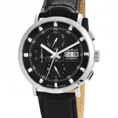 Ceas de lux Engelhardt Edgar Steel Black, original, nou, cu factura si garantie! - Ceas barbatesc Engelhardt, Lux - elegant, Mecanic-Automatic, Otel