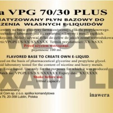 Inawera - VPG 70/30 Plus 18mg - 100 ml - Lichid tigara electronica