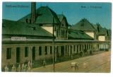 1487 - Brasov, FELDIOARA-RAZBOIENI,  Railway Station - old postcard - used - 1927