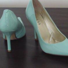PANTOFI GUESS CYRANO - Pantof dama Guess, Culoare: Turcoaz, Marime: 36.5, Turcoaz