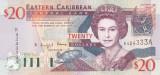 Bancnota Caraibe (Eastern Caribbean - Antigua) 20 Dolari (2003) - P44a UNC