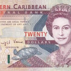 Bancnota Caraibe (Eastern Caribbean - Antigua) 20 Dolari (2003) - P44a UNC - bancnota america