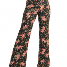 Pantaloni Comozi cu Elastic pe Talie si Print Floral