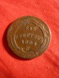 Moneda1 Kr.1805 ,litera H ,bronz ,Austria ,cal.F.Buna ,netrecuta in catalog
