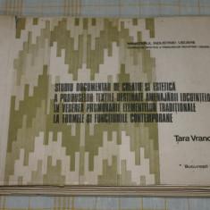 Studiu documentar de creatie si estetica a produselor textile destinate amenajarii locuintelor ..... Tara Vrancei - Bucuresti - 1985