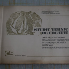 Studiu tehnic de creatie privind promovarea elementelor traditionale in creatia produselor destinate ansamblului vestimentar - Bucuresti - 1983