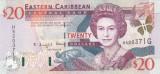 Bancnota Caraibe ( Eastern Caribbean - Grenada ) 20 Dolari (2000) - P39g UNC