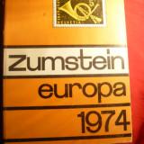 Catalog Zumstein -Europa- timbre 1974 ,cartonat , 1372 pag.