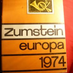 Catalog Zumstein -Europa- timbre 1974, cartonat, 1372 pag.