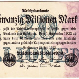 Germania bancnota 20.000.000 mark marci 25.07.1923 XF / a.UNC