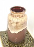 Cumpara ieftin Vaza ceramica smaltuita fat lava - Glazura Volcano - marcaj Scheurich, W.Germany