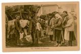 1707 - ETHNIC to animal market - old postcard, CENSOR - used, Circulata, Printata