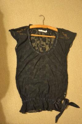 Bluza Neagra Transparenta Eleganta ZARA foto