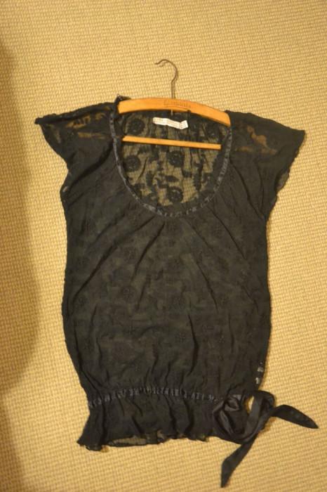 Bluza Neagra Transparenta Eleganta ZARA