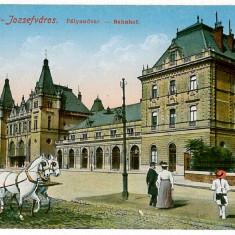 2011 - TIMISOARA, Railway Station Iosefinii, carriage - old postcard - unused - Carte Postala Banat 1904-1918, Necirculata, Printata