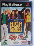 JOC PS2 DISNEY HIGH SCHOOL MUSICAL SING IT! ORIGINAL PAL / STOC REAL / by DARK WADDER, Simulatoare, Toate varstele, Multiplayer