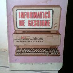 I. Rosca - Informatica de gestiune, Manual pentru clasa a XI-a si XII-a