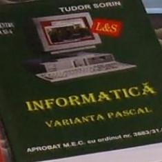 Tudor Sorin - Informatica - varianta pascal cls a XI-a - Carte software