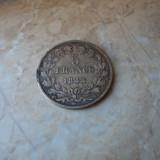 Lot 1. 5 francs / franci 1844 Louis Phillippe Franta, argint, Europa