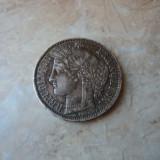 Lot 1. 5 francs / franci 1870 A Franta, argint