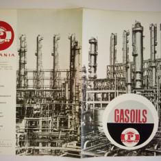 Pliant romanesc GASOILS - PETROLEXPORT ( in limba franceza ), anii '60 - Reclama Tiparita