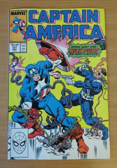 Captain America #351 Marvel Comics foto mare