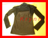 B02 - Bluza neagra eleganta , neagra paiete, marime M/L - TR. 4LEI PT AVANS!, Maneca lunga, Casual, H&M