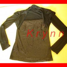 B02 - Bluza neagra eleganta, neagra paiete, marime M/L - TR. 4LEI PT AVANS! - Bluza dama H&M, Culoare: Negru, Maneca lunga, Casual