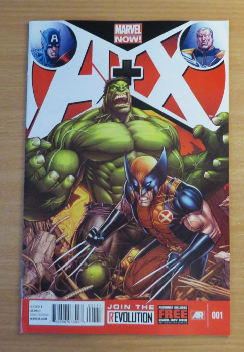A+X Avengers + X- Men #1 Marvel Comics foto mare