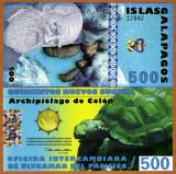 INSULELE GALAPAGOS █ bancnota █ 500 Francs █ 2012 █ POLYMER █ UNC █ necirculata