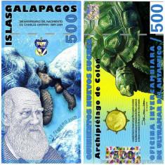 INSULELE GALAPAGOS █ bancnota █ 500 Francs █ 2009 █ POLYMER █ UNC █ necirculata