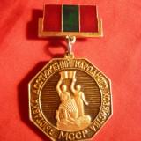 Insemn Expozitia Realizari Economice - Moldova Sovietica, h= 5, 1 cm - Insigna