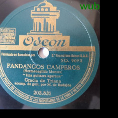 Gracia de Triana, disc gramofon/patefon-v repertoriul si alte detalii in foto!, Alte tipuri suport muzica